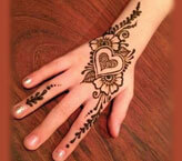 Heart Beautiful Flower Mehndi Design