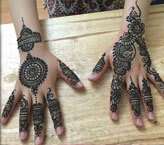 Splendid Back Side Mehndi Design for Hands