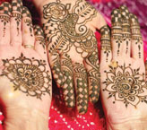 Three Hand Mehndi Design